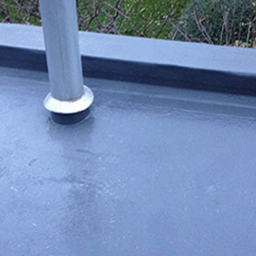 flat roof with chimney