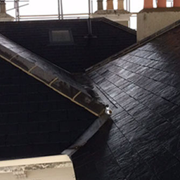slate roof tiles and velux windows